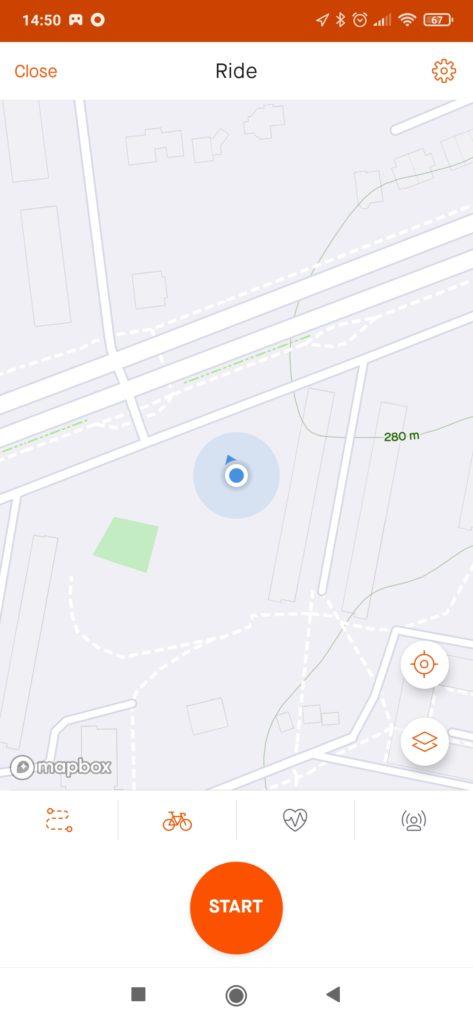 mapa w aplikacji strava