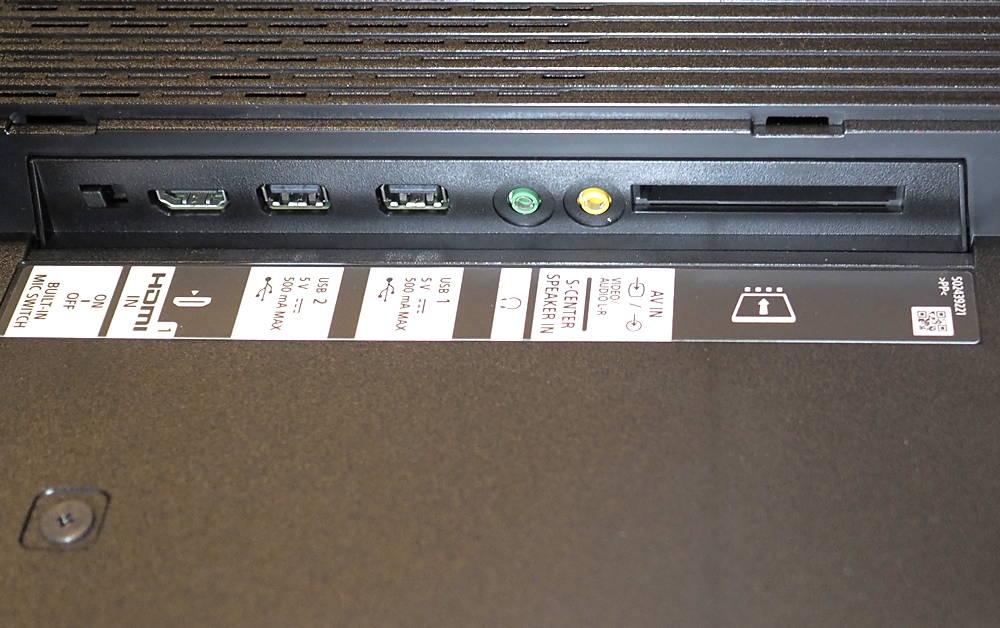 złącza telewizora sony xr55a90j