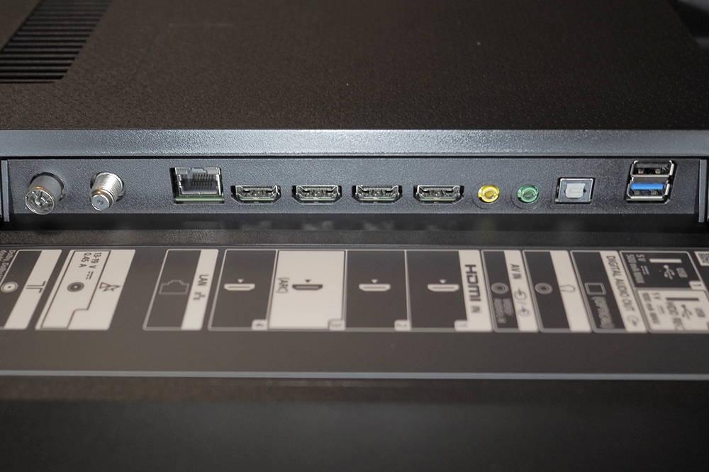złącza telewizora sony 65xh8096