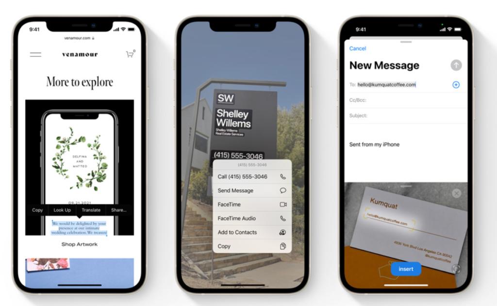 Live Text iOS 15