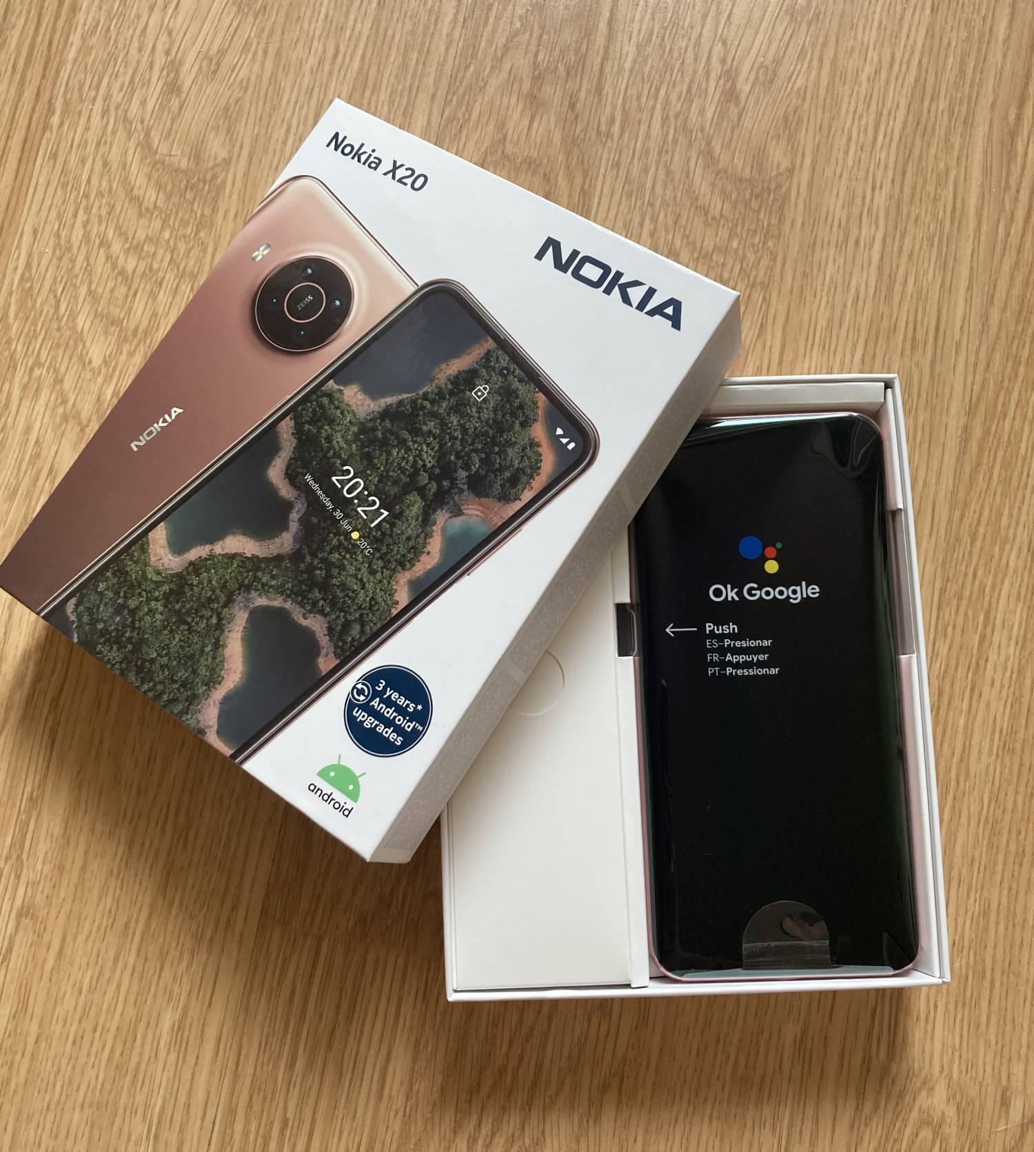 Nokia X20 opakowanie otwarte