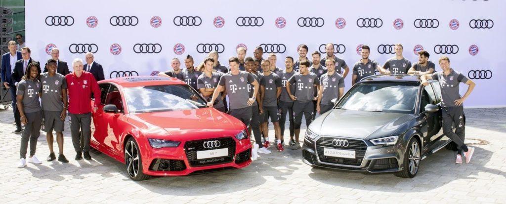 Samochody Audi piłkarzy z Bayern Monachium
