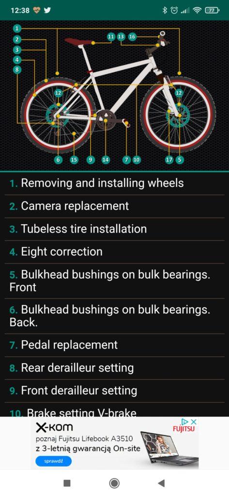 bikerepair menu