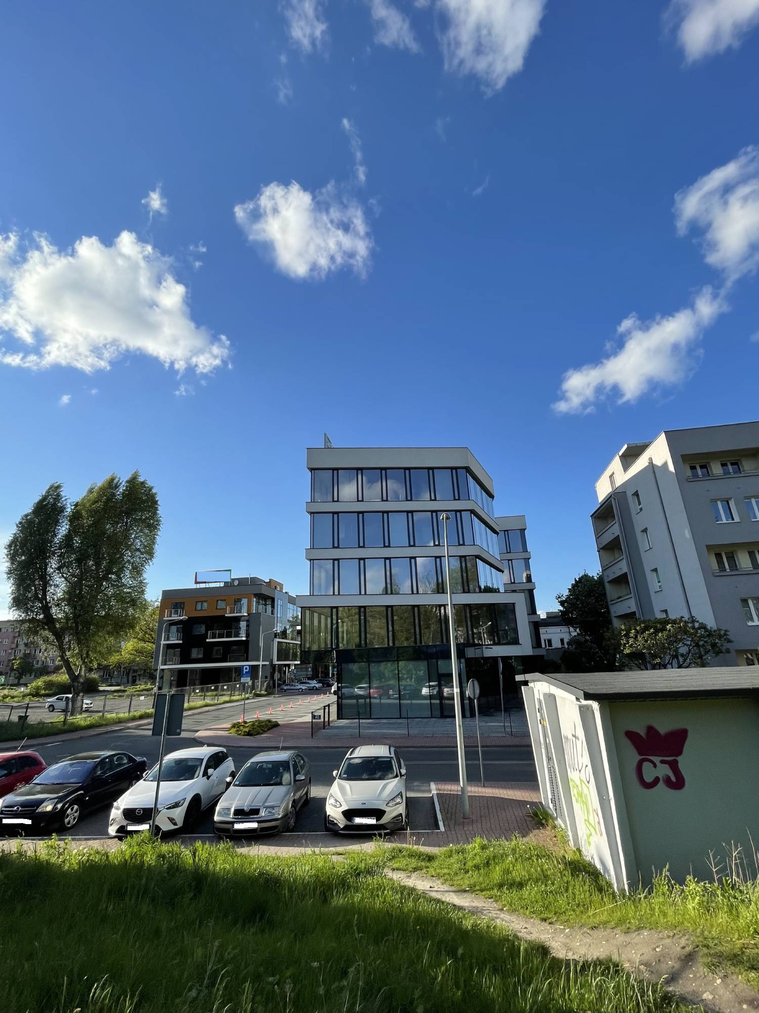 budynek obiektyw ultraszerokokątny