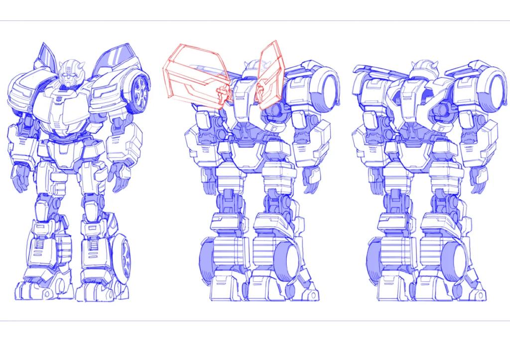 Bumblebee szkic gra Transformers