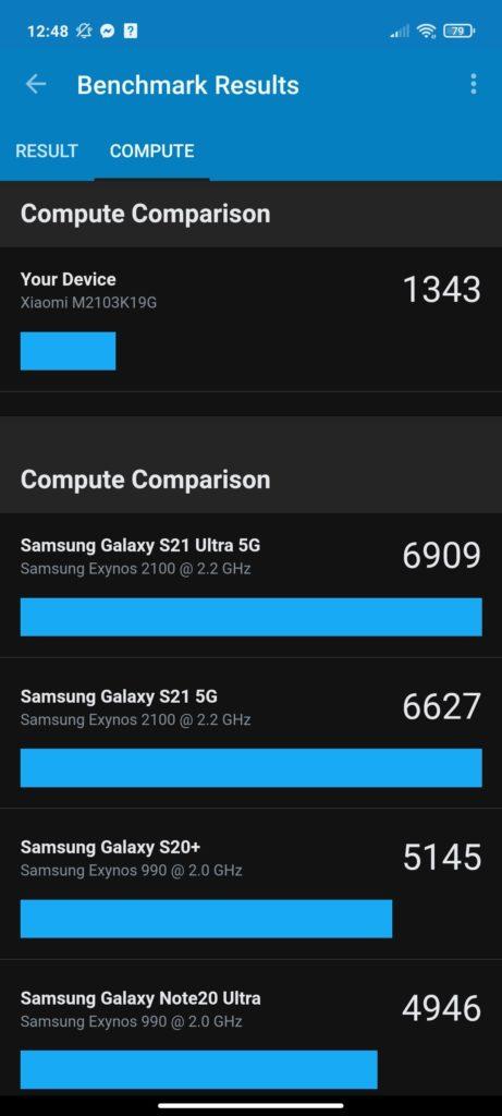 compute comparison benchmark Redmi Note 10 5G