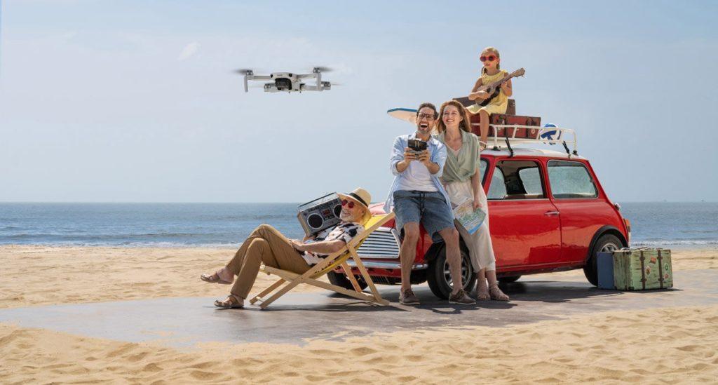 dron wakacje podróż ludzie
