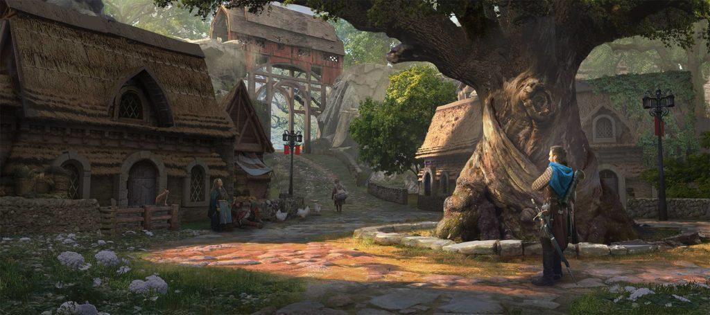 concept art wioski oakvale do gry fable 4