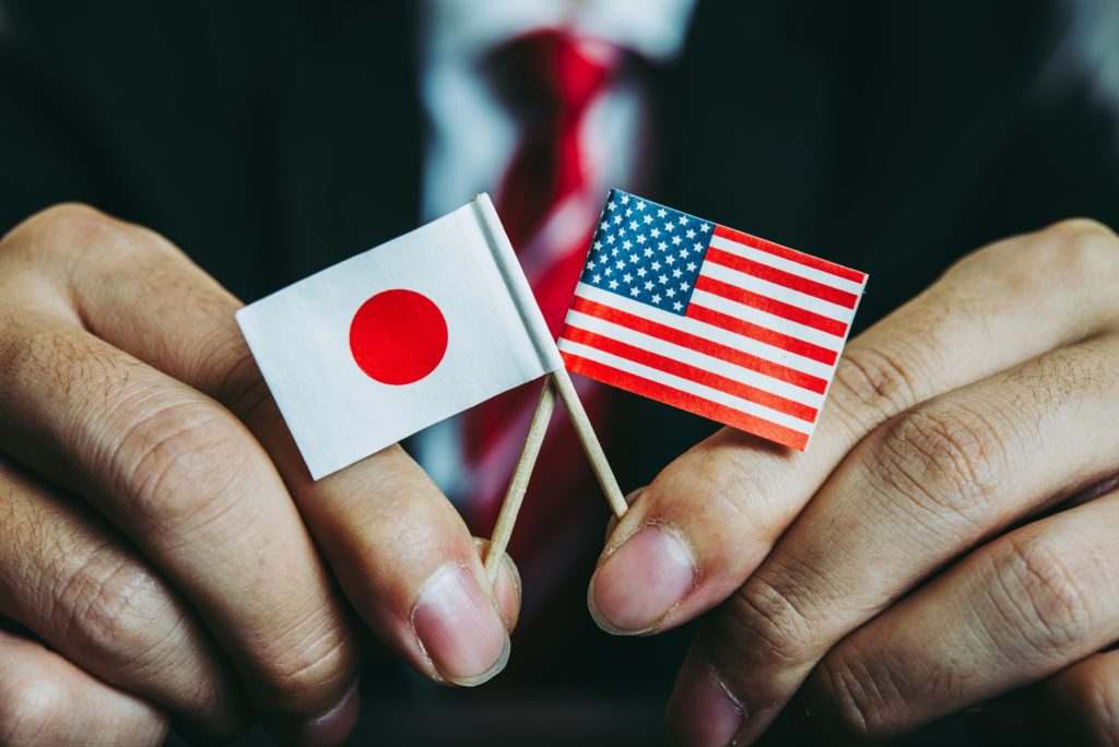 Flagi Japonii USA