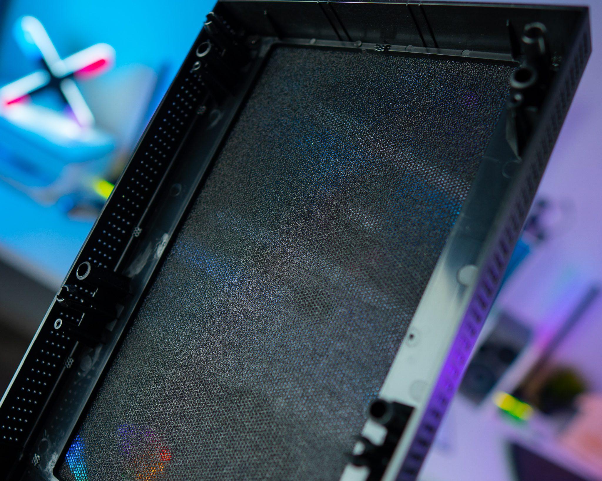 front panel mesh filtr przeciw kurzowy