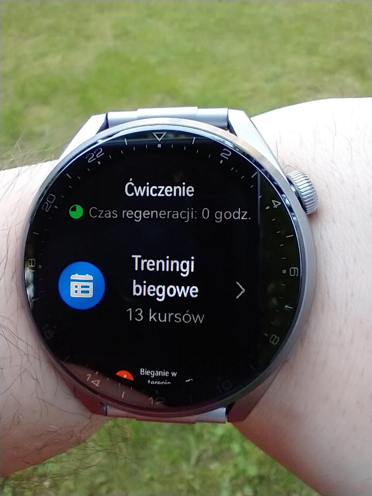 Huawei Watch 3 Pro Elite lista treningów