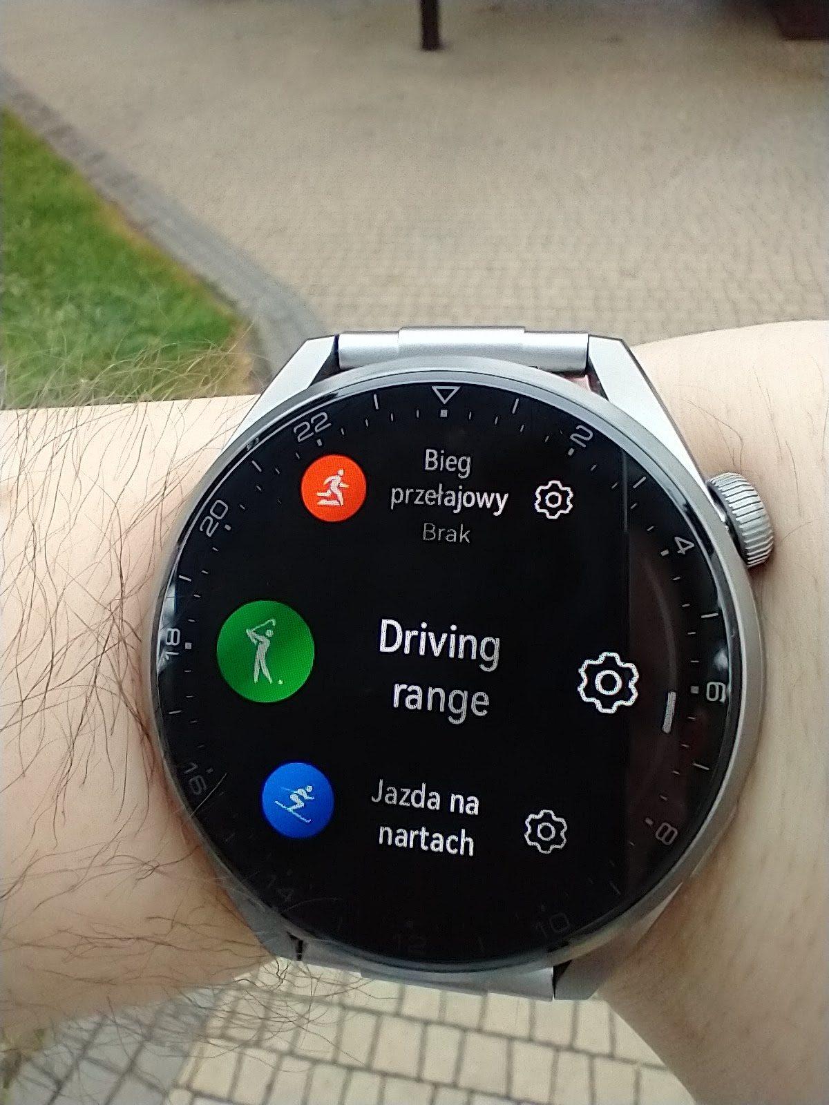 Huawei Watch 3 Pro Elite treningi golf narty