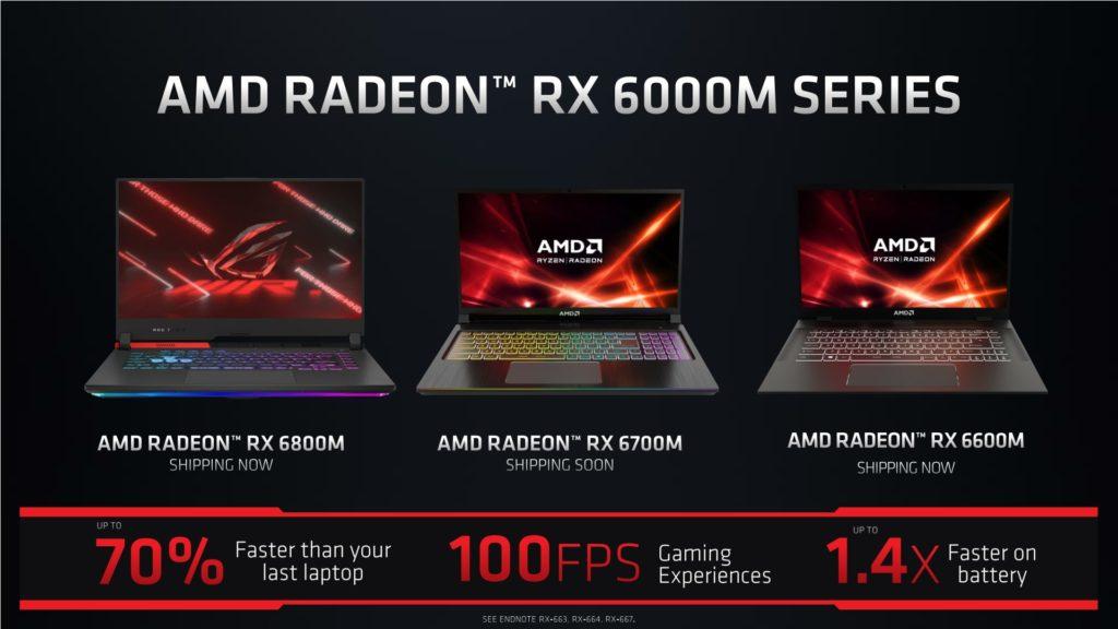 Laptopy z Radeon RX 6000M