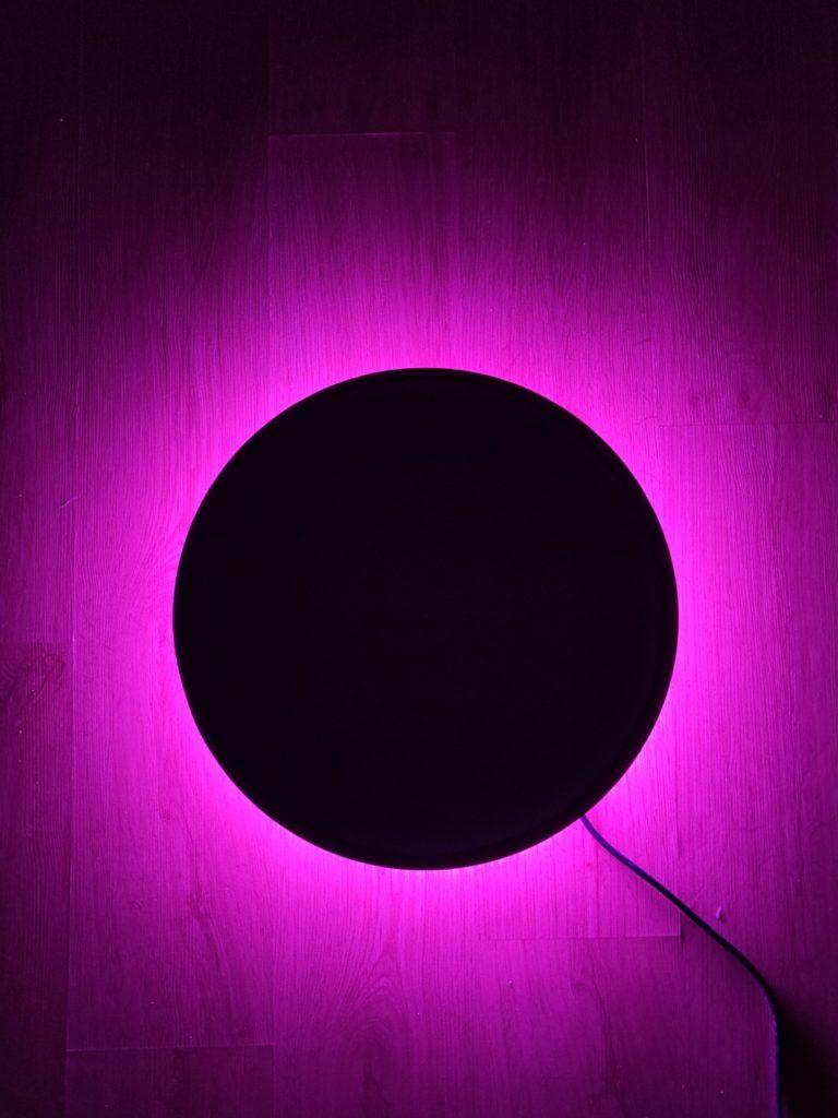 oświetlenie LED RGB bez głównego światła w yeelight arwen ceiling light 450s