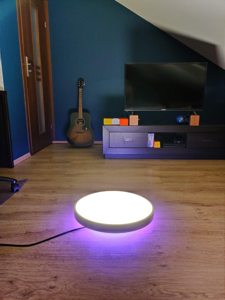 oświetlenie led rgb i główne światło w yeelight arwen ceiling light 450s