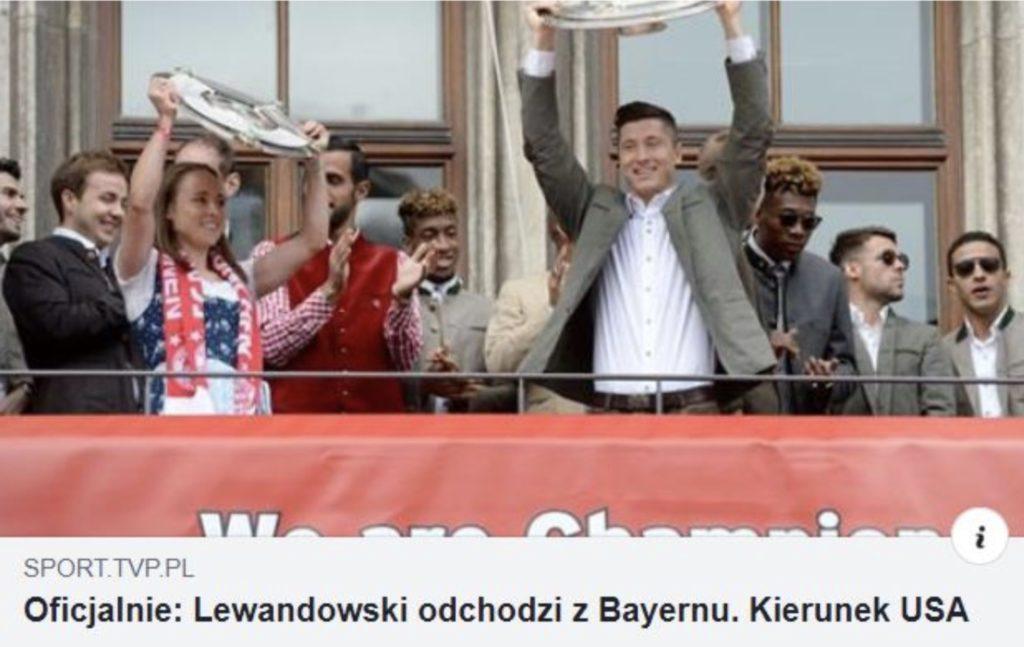 lewandowski odchodzi z bayernu