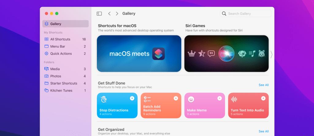 macOS 12 Monterey skróty