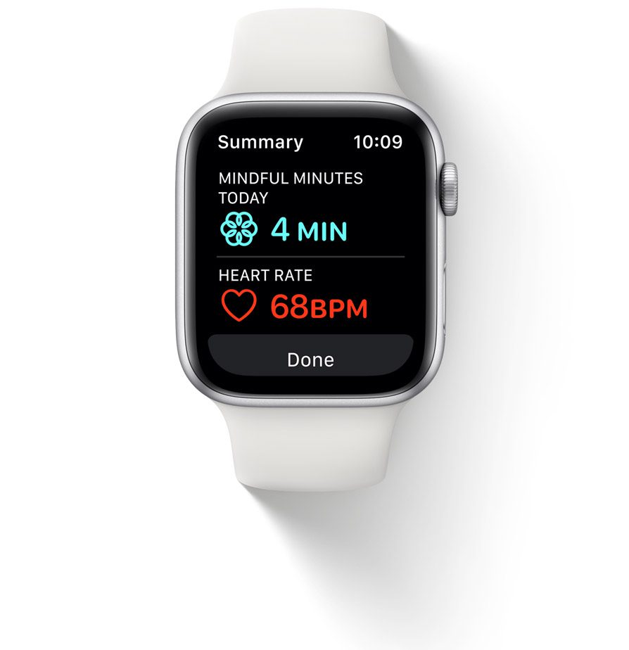watchOS 8 dla Apple Watch mindfulness