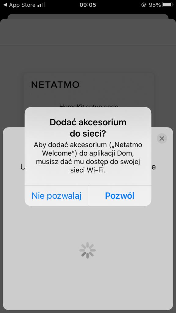 Konfiguracja kamery Netatmo Welcome
