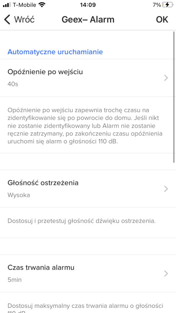 Alarm w aplikacji kamery Netatmo