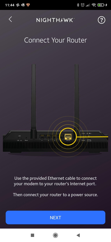 netgear nighthawk podłączanie routera