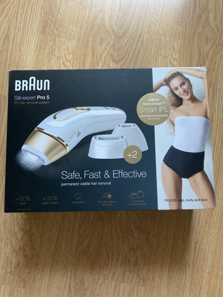 pudełko depilatora Braun Silk-expert Pro 5
