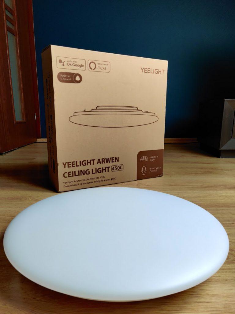 yeelight arwen ceiling light 450C i pudełko