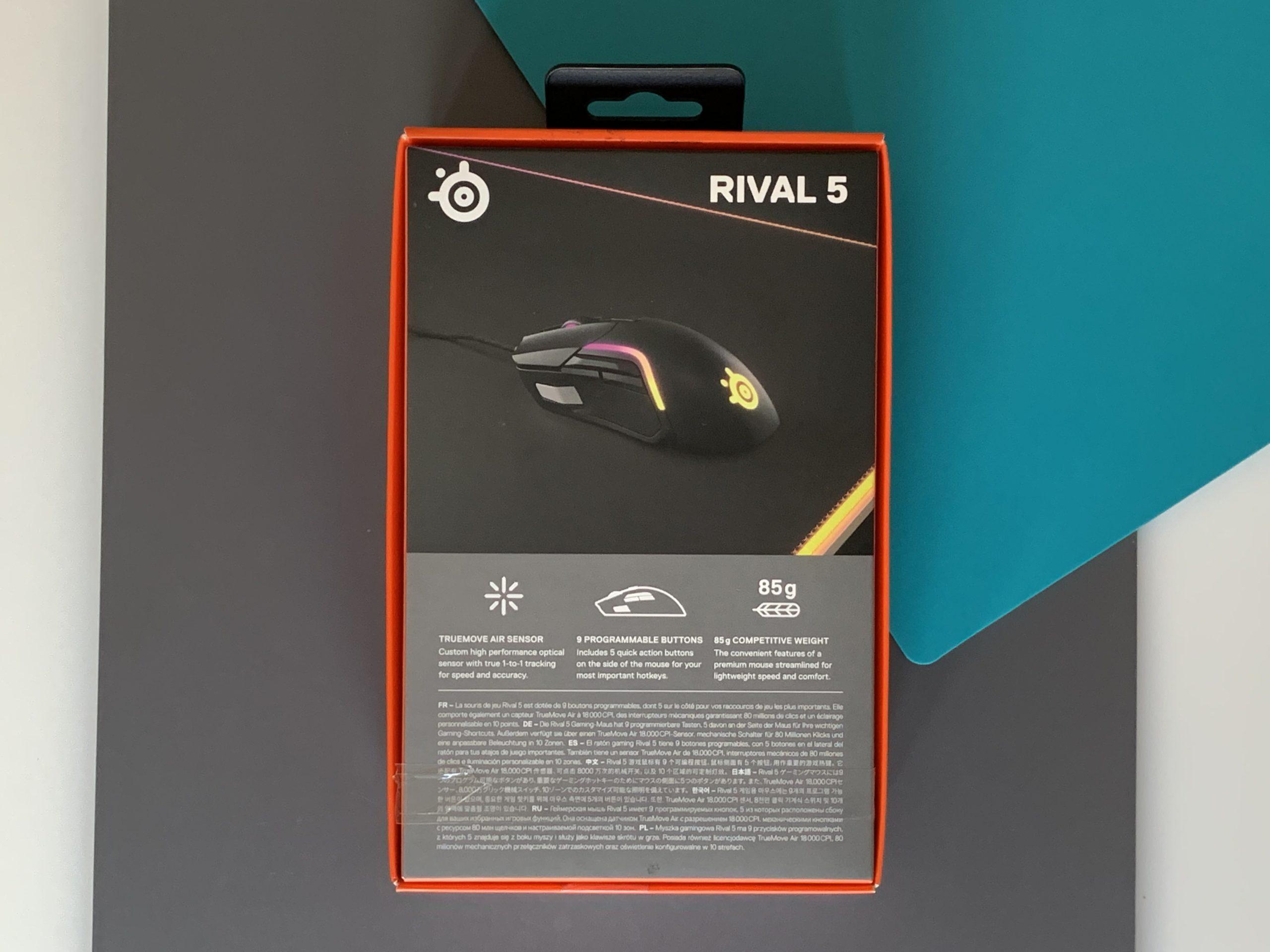 Rival 5 opakowanie tył