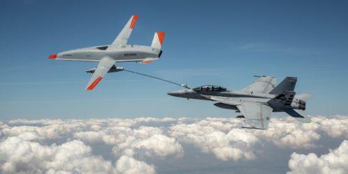 Tankowanie F-18 Super Hornet z MQ-25. Drony w natarciu!