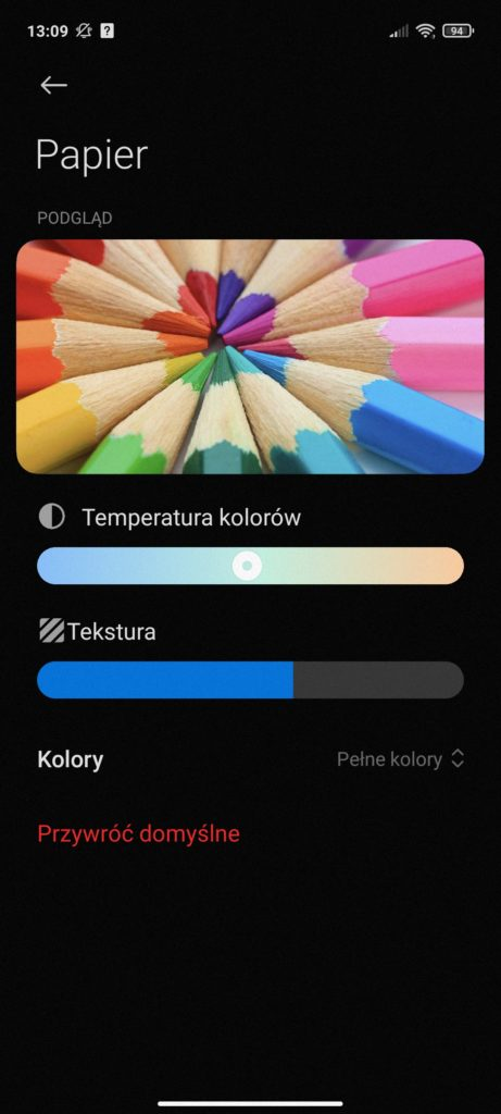tekstura w Redmi Note 10 5G
