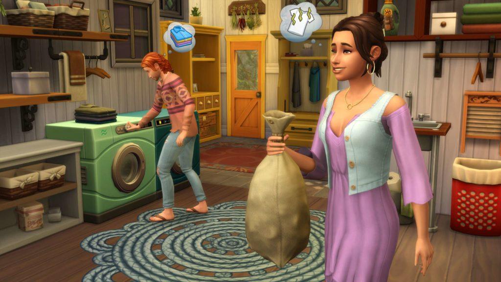 zrzut ekranu z dodatku wielkie pranie the sims 4