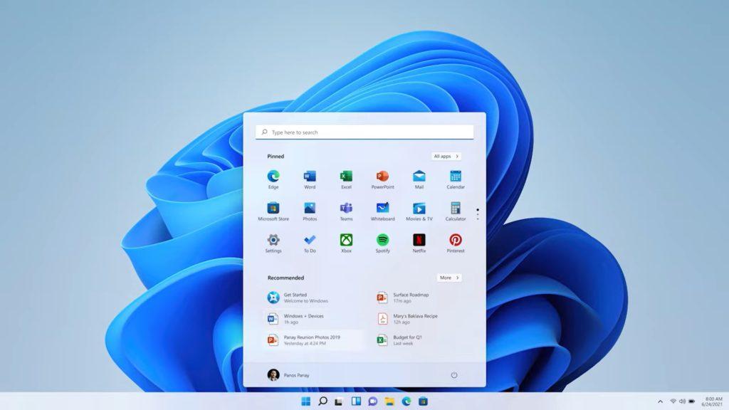 windows 11 menu start