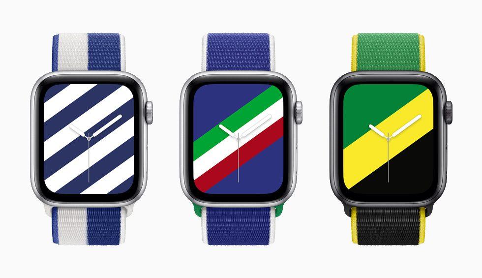 Międzynarodowe opaski Sport Loop i tarcze dla Apple Watch