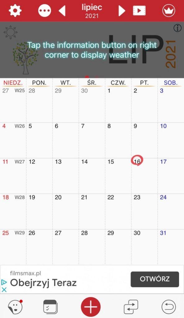 Awesome Calendar aplikacja