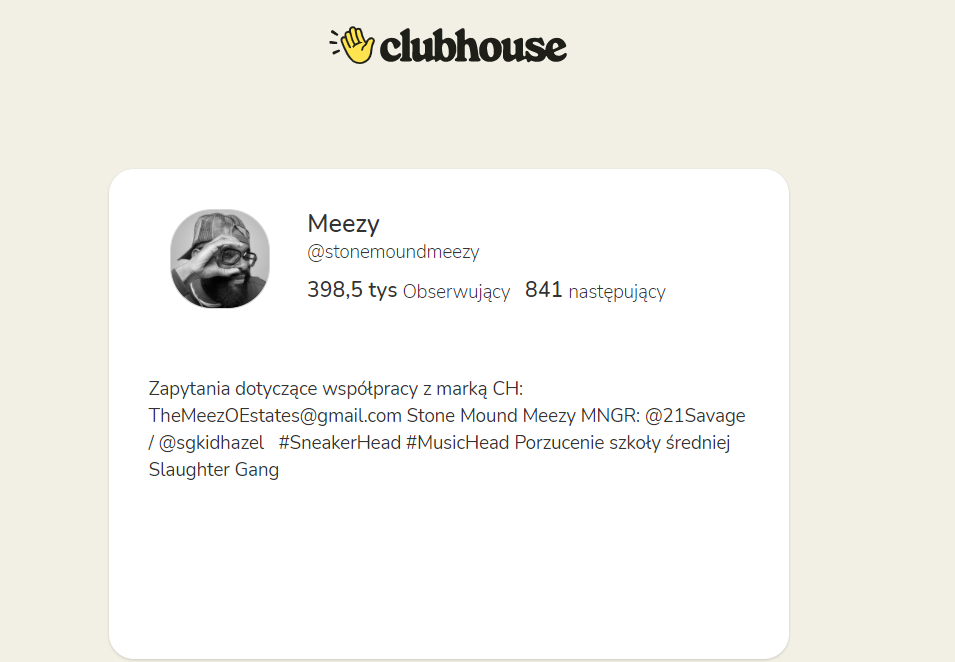 nowe logo w aplikacji Clubhouse