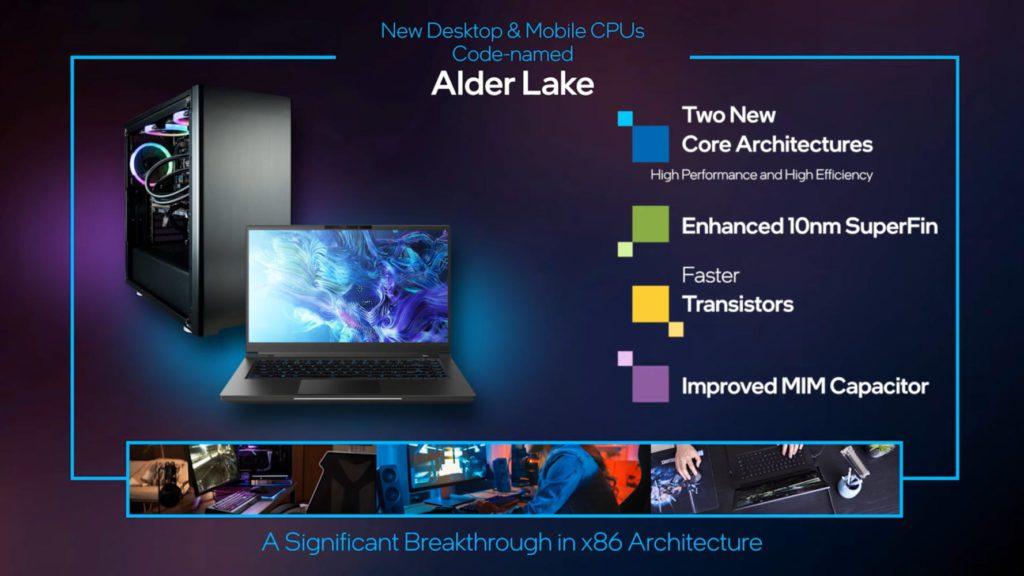 nowości w procesorach z rodziny alder lake