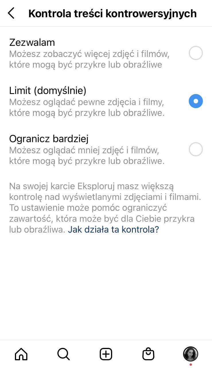 Blokowanie kontrowersyjnych treści na Instagramie