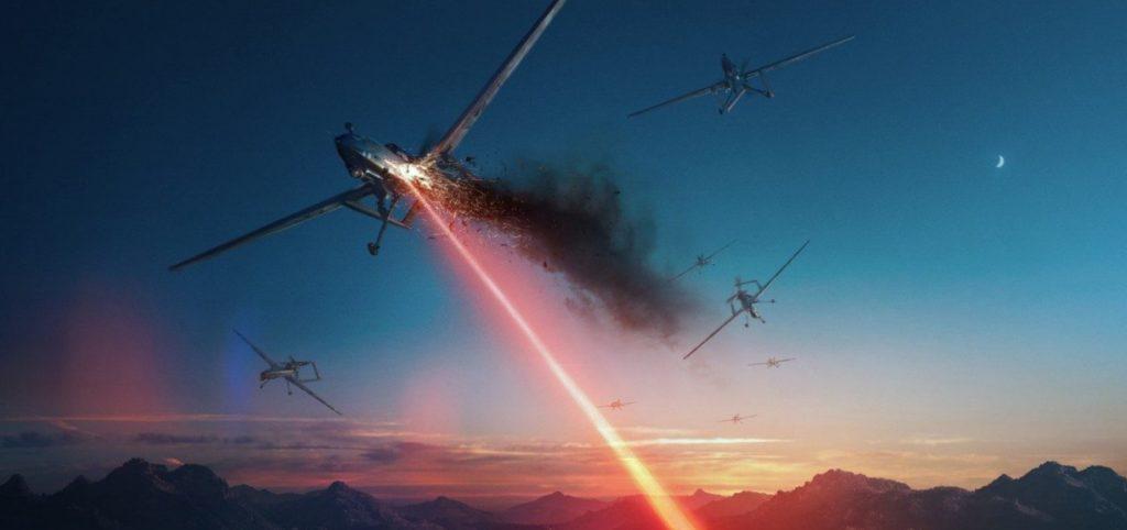 drony laser