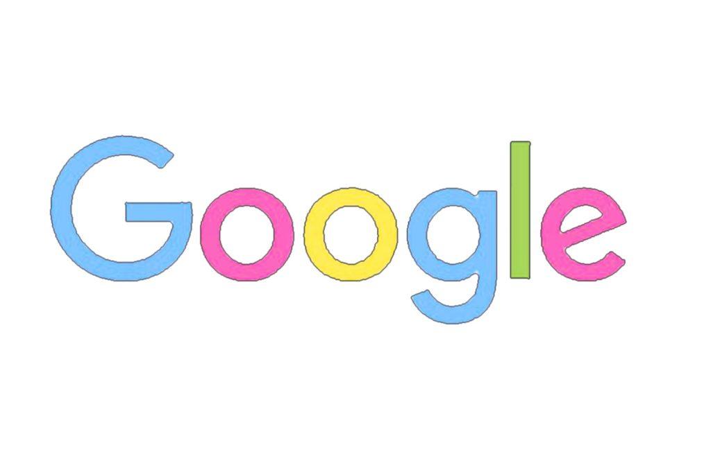 Google w pastelowych kolorach