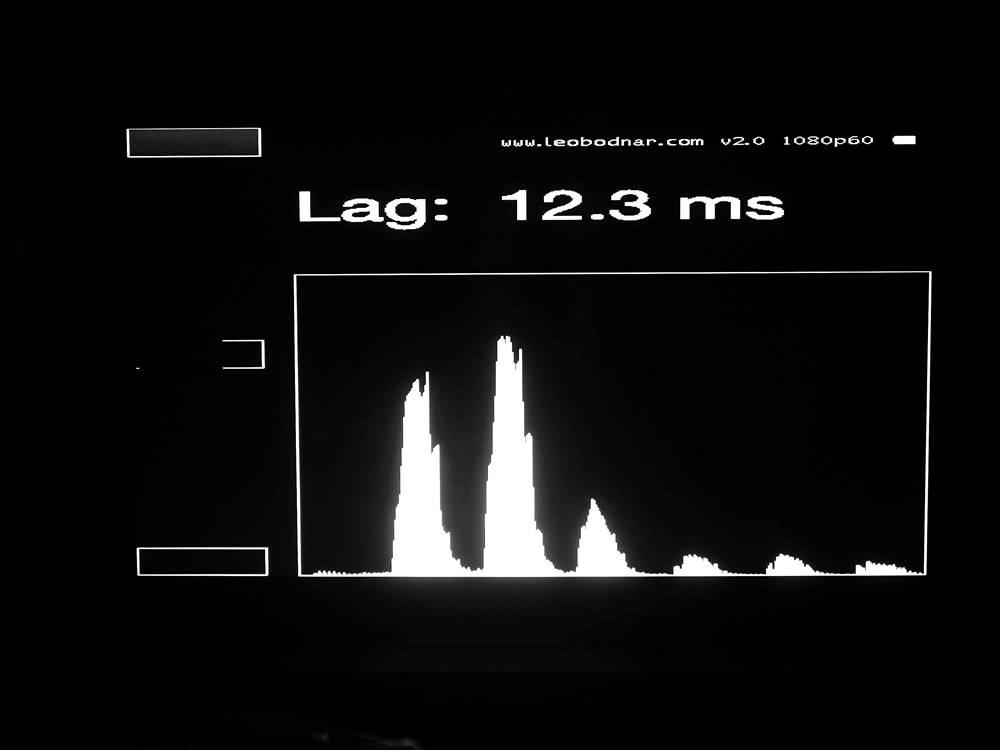 wynik pomiaru input laga telewizora samsung qe55a80a