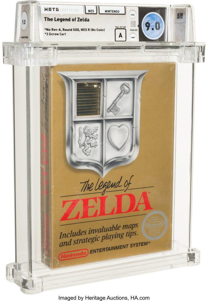 The Legend of Zelda NES aukcja