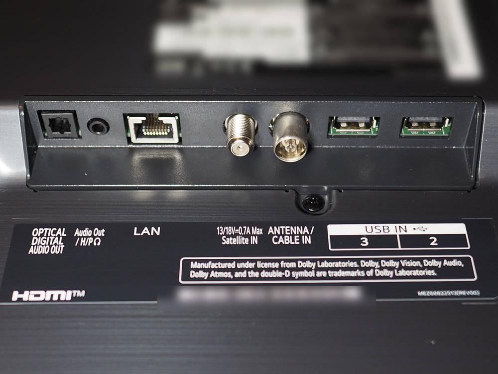 złącza telewizora lg 55nano863pa