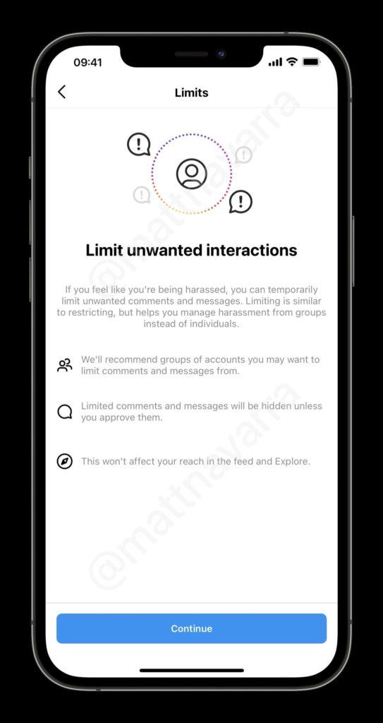 Instagram Limity nowa funkcja