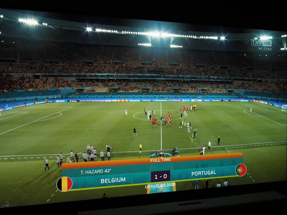 mecz Belgia Portugalia na ekranie telewizora LG OLED55A1