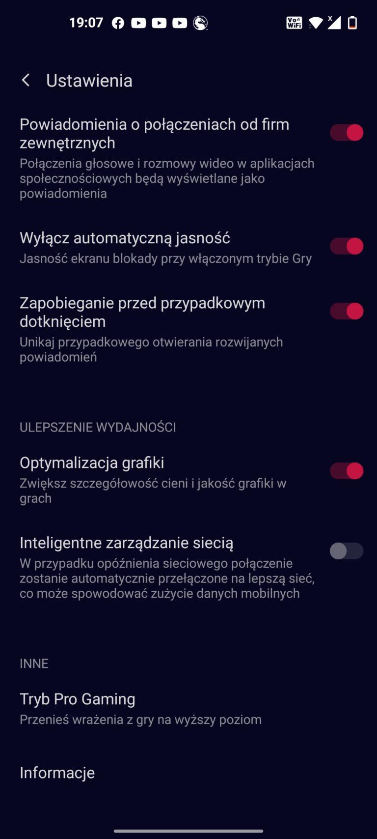 OnePlus Nord CE 5G gry ustawienia