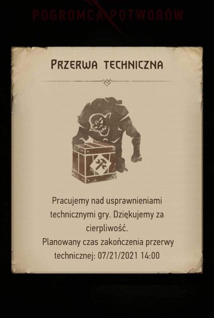 Przerwa techniczna Wiedźmin gra mobilna
