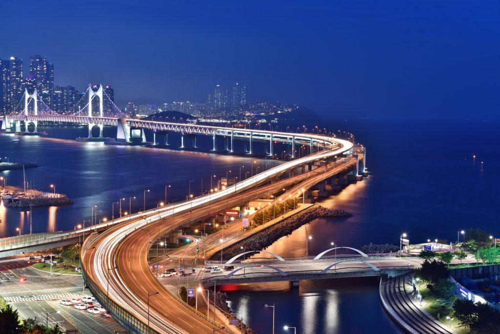 Pusan miasto noc