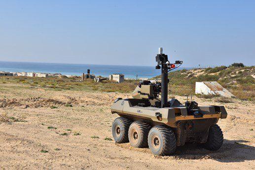 Izraelski robot Jaguar na granicy z Gazą