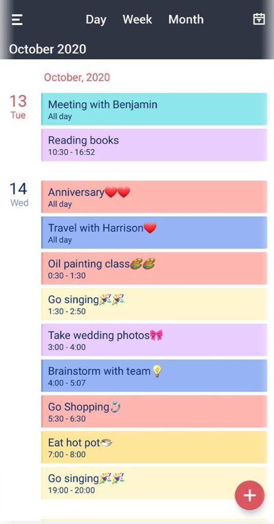 Tiny Calendar aplikacja