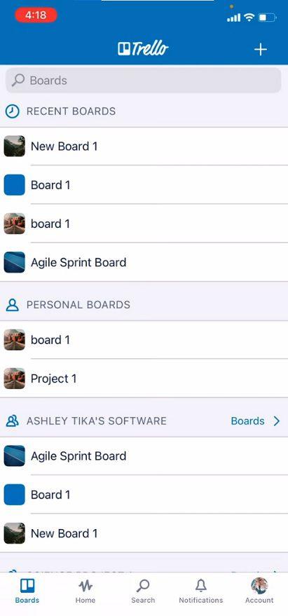 Trello aplikacja
